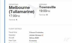 MUST GO NOW because of double booking. Jetstar one way,