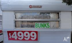 CHEAP RETRO FRANKLIN BUNK FAMILY CARAVAN. BUNKS X 2.