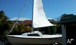 cherry 16 sailboat very light only 260 kgs complete