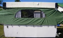 Newly renovated 1975 Chesney camper. Beds pop out on