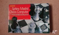 Sphinx Madrid Chess Computer. 16 skill levels from
