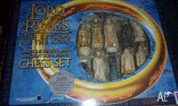 Unique Lord of the Rings Chess set, boxed with all