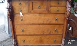 Antique Huon Pine Chest of drawers. 8 drawers.
