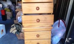 Pine chest of draws with six draws H x1240mm X W 480mm