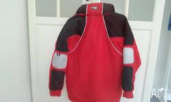 Child's sz 12 red and black Diamond Peak ski jacket.