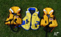 I have three children's life jackets for sale. Two are