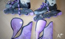 Roller blades, size 2 to 3. Suit 8 to 10 year old