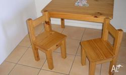 Great little table and two chairs for little people.