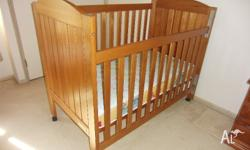 Childcare Timber Cot in VGC (minor marks): - solid