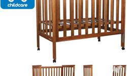 Hi, I am selling our timber cot with matching timber