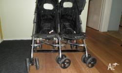 childcare twin stroller from birth to 17kgs on each