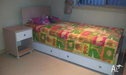 Bed, bed side table with good qualtiy matress: $250