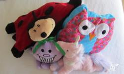 Children�s Bed Items. Owl cushion, Ladybird Pillow pet,