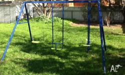 This swing set came with the house hardly been used, I