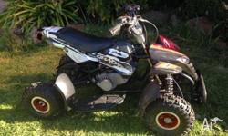 Quad Bike - black / red/ silver ideal first petrol quad