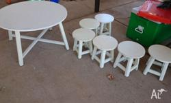 Great set for kids, lots of chairs, nice and sturdy.