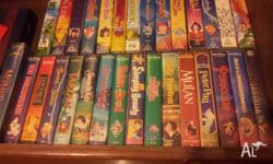 30 Childrens VHS Videos, some you can't but on DVD.