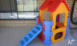 This is a great toddlers plastic cubby house with