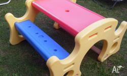 picnic table suits toddler onwards good size strong