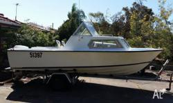 "18'6"" Half cabin Chivers Thunderbird 115HP All new"