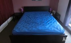 95% new QUEEN size bed with luxurious mattress, in very