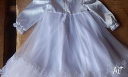 Christening dress europeon design, never worn, colour