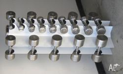 Features of the Chrome Dumbell Machined heads in