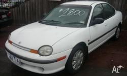 CHRYSLER,NEON,1996, FWD, White, 4D SEDAN, 1995cc, 98kW,