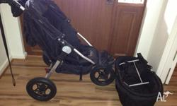 City Jogger Elite Pram with Basinette and accessories.