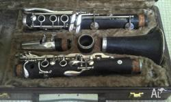 Le Blanc B flat Clarinet. Beautiful wooden instrument.