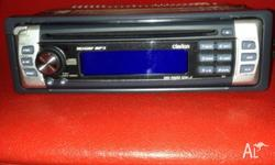Clarion car stereo, cd, mp3 player with remote control,