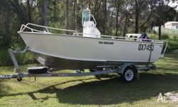 GREAT CONDITION CLARK ABALONE WITH 70 HP 2 STROKE OUT
