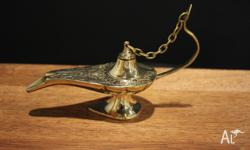 BRAND NEW Beautifully hand engraved Aladdin's lamp made