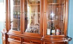 Elegant Dining Room Buffet with cabinet hutch. High