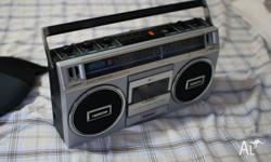 Classic retro cassete deck radio An old gem still in