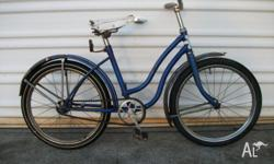 1970's Kid's Cruiser in Blue/white trim Single Speed