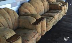 Club Lounge Suite 1950s. 1 x 3 seater and 2 x 1