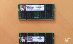 CMOS DDR2 RAM, all compatible 2x2GB Kingston