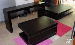 Coffee table and side board set 2 x coffee tables 1 x