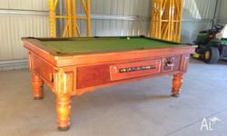 2 dollar coin operated pub pool table 7 foot by 4 foot,