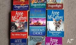 All books in excellent condition. Anne McCaffrey Black
