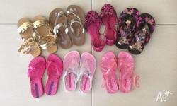 7 Pairs of little girls shoes in size 12 3 x Ipanemas