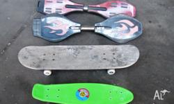 $50.00 the lot. 1. Stereo Skateboard like new condition