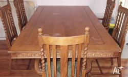 This is an absolute bargain. Colonial Dining Table plus