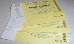 4 tickets to the Albion Comedy Club for Saturday