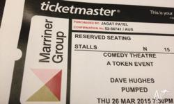 2 x General Admission tickets to see Dave Hughes on