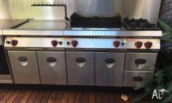 Commerical Grade Angelo Po Cook Top, BBQ and 2 Gas