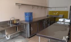 Centrally located commercial kitchen for lease ~8km