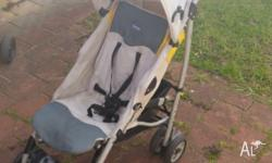 Compact 4 Wheels Pram �Chicco�. Good conditions. Stop