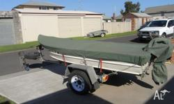 12ft Tinnie - heavy duty. Good trailer with spare